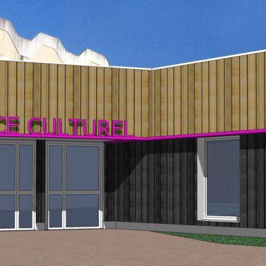 Projet de facade du nouvel espace culturel de Grandchamp des Fontaines
