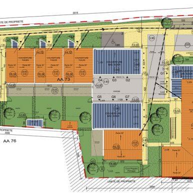 Plan de masse des maisons individuelles et logements intermédiares