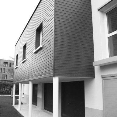 Foyer ADAPEI - autre vue en noir et blanc