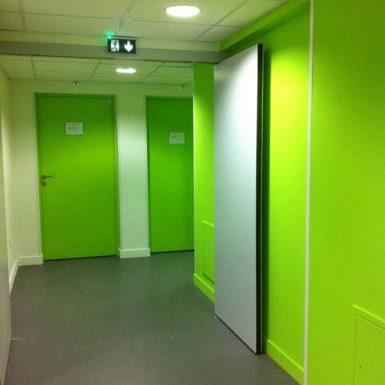 Foyer ADAPEI - Portes vertes des chambres