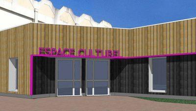 Vue 3D de l'espace culturel de Grandchamp des Fontaines