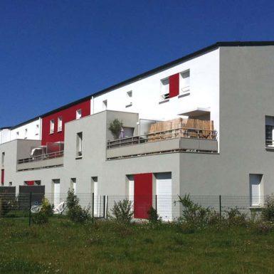 Logements ZAC de l'Ormois - façade sud