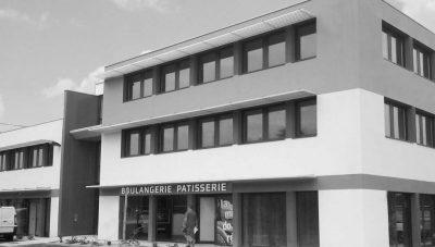Vue noir & blanc des bureaux et commerces Europa