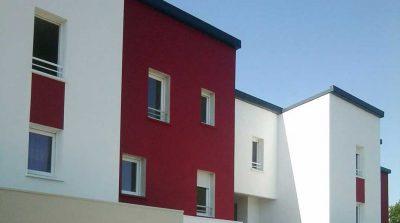 Facade des logements de la ZAC de l'Ormois à Montoir de Bretagne