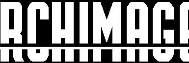Logo blanc Archimage et associés